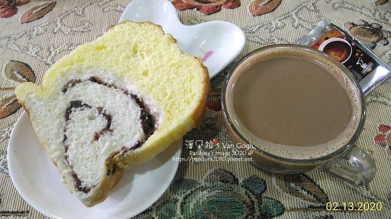 2020.02.13-蛋糕吐司紅豆、(豆豆魔力)焦糖瑪琪朵即溶咖啡.jpg