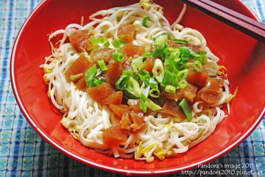 豬腳凍豆菜麵
