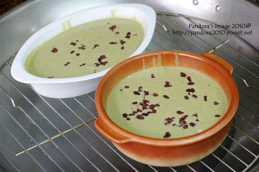 綠茶紅豆蒸糕