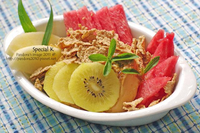 Special K + 水果布丁