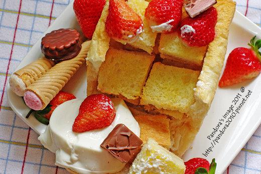 草莓百寶盒蜜糖吐司