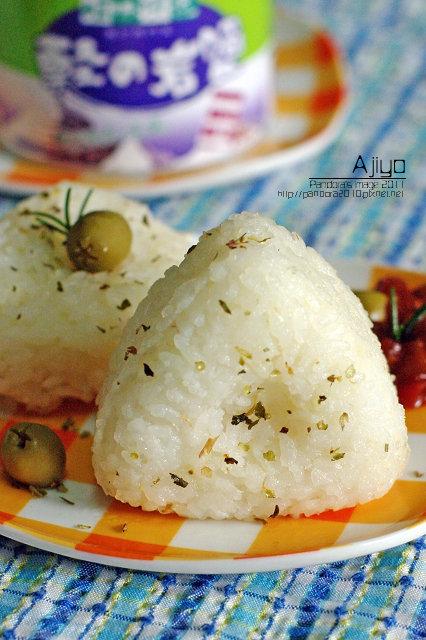 香草鹽烤飯糰
