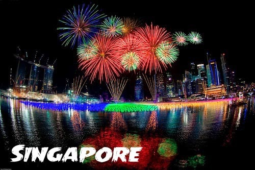 new years fireworks in singapore