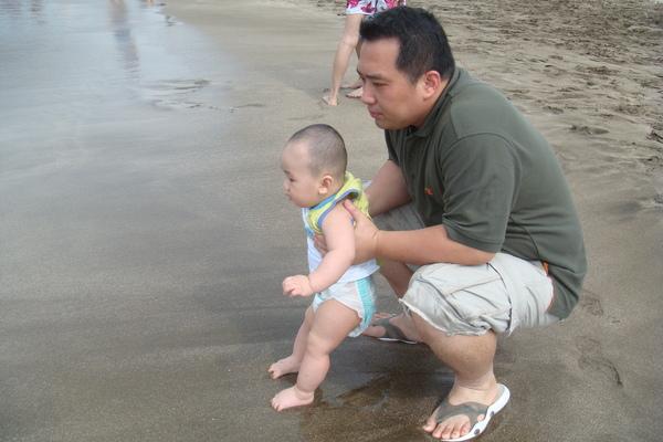 第一次踩沙灘