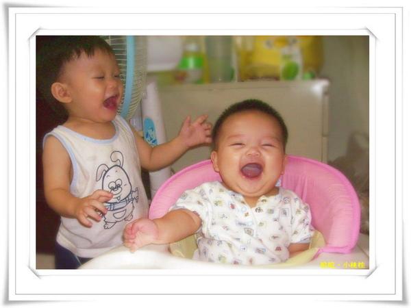 哇哈哈~~表哥你在笑什麼?