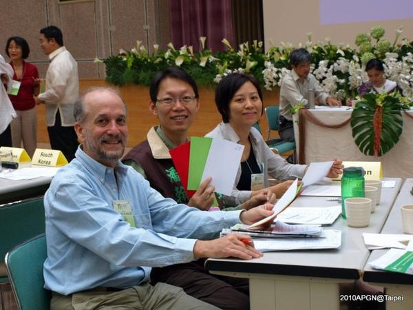 APGN台灣三名正式會員代表