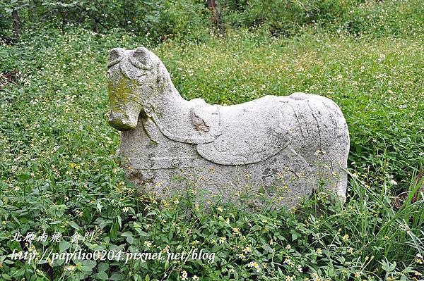 黃汴墓前的石馬