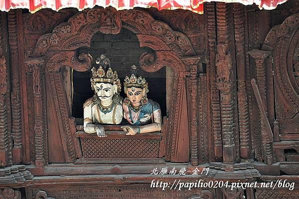 加德滿都(Kathmandu)杜兒巴廣場(Durbar Square)濕婆-帕瓦娣廟屋(Shiva-Parvati Temple House)