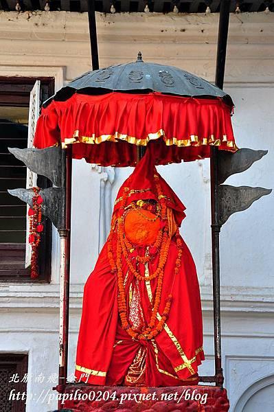 加德滿都(Kathmandu)杜兒巴廣場(Durbar Square)哈努曼猴神(Hanuman)雕像