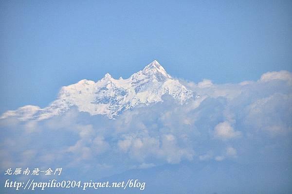 從加德滿都(Kathmandu)到奇旺(Chitwan)途中的雪山