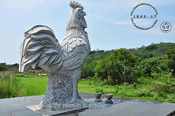 上東坑福德祠旁聚落白雞(風雞)