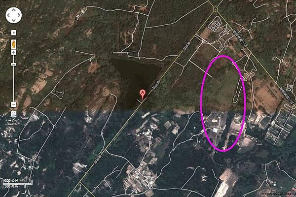 陽明湖衛星圖