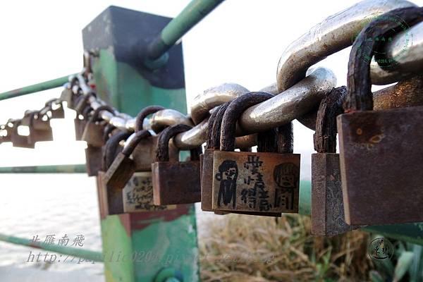 國之北疆景點護欄上的祈願鎖