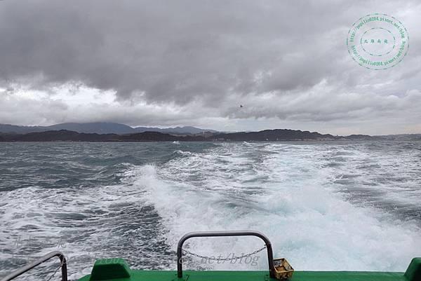 從海上回望碧砂漁港