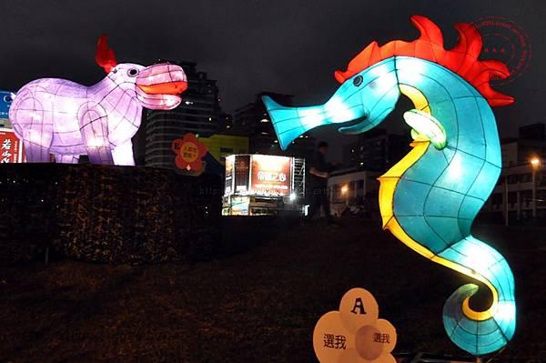 09 2014中臺灣元宵燈會伯樂馬場區海馬與河馬.JPG