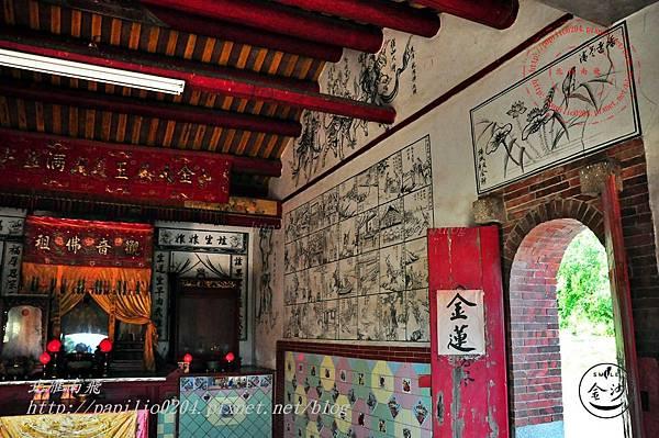 16金門塘頭金蓮寺內部左側壁畫