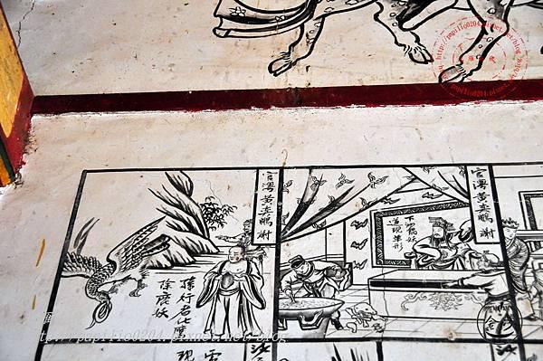 36金門塘頭金蓮寺左側壁畫-西遊記