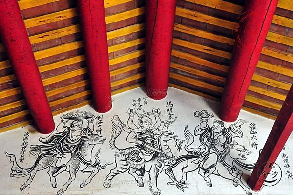 40金門塘頭金蓮寺左側壁畫-移山倒海大將 馬明王