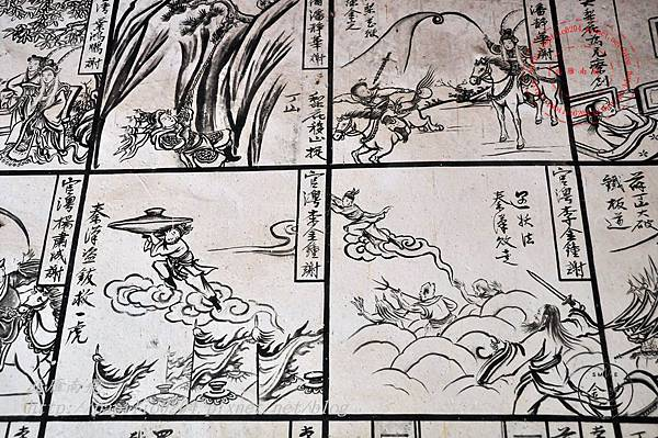 48金門塘頭金蓮寺左側壁畫-薛丁山征西