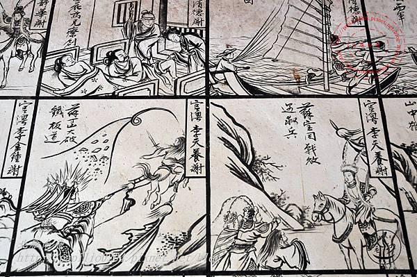 49金門塘頭金蓮寺左側壁畫-薛丁山征西