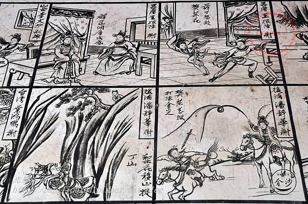 53金門塘頭金蓮寺左側壁畫-薛丁山征西