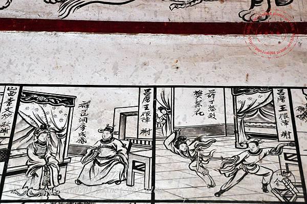 56金門塘頭金蓮寺左側壁畫-薛丁山征西