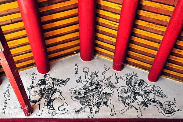 59金門塘頭金蓮寺左側壁畫-打鬼吞鬼大將 馬明王