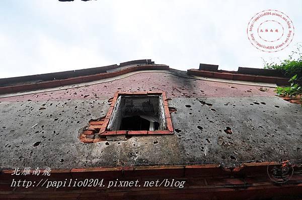 16金門沙美張氏古厝[歷史建築]護龍疊樓山牆.JPG