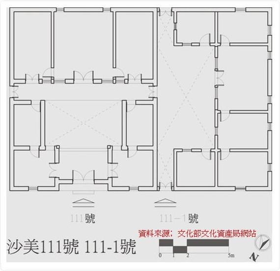 34金門沙美張氏古厝[歷史建築]平面圖
