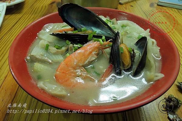 04馬祖南竿津沙小吃-有淡菜的海鮮麵.JPG