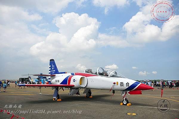 50 20140719清泉崗空軍基地營區開放-靜態展示AT-3自強號攻擊教練機.JPG