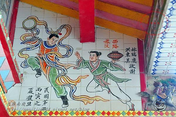 12烈嶼青岐天師宮左側對看牆壁畫.JPG