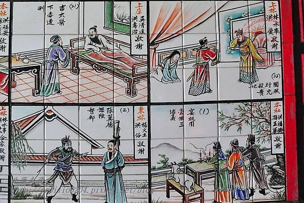 21烈嶼青岐天師宮內部右側壁畫.JPG