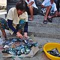 04東嶼坪池府廟前處理魚貨的婦人.JPG