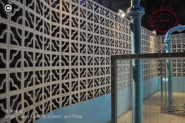 金門擎天水廠展示館內部牆面