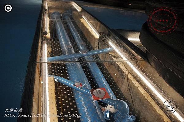 金門擎天水廠展示館內原有管線