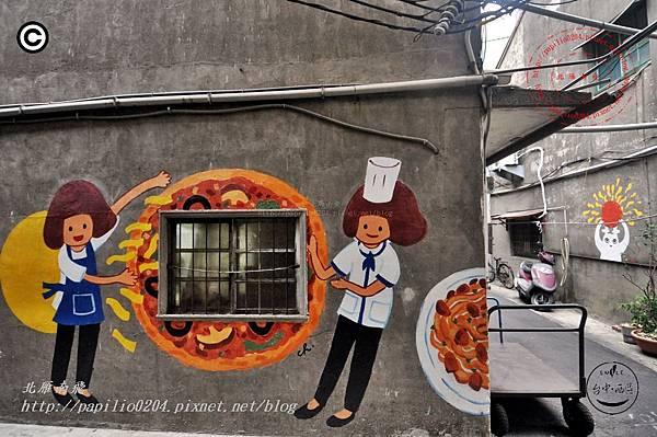 忠明13鄰塗鴉社區 - 日淳 巷弄外的小食