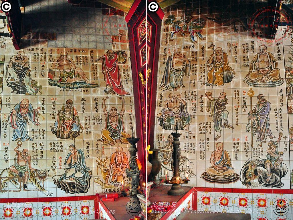 烈嶼西方釋迦佛祖玄天上帝宮十八羅漢彩繪壁畫