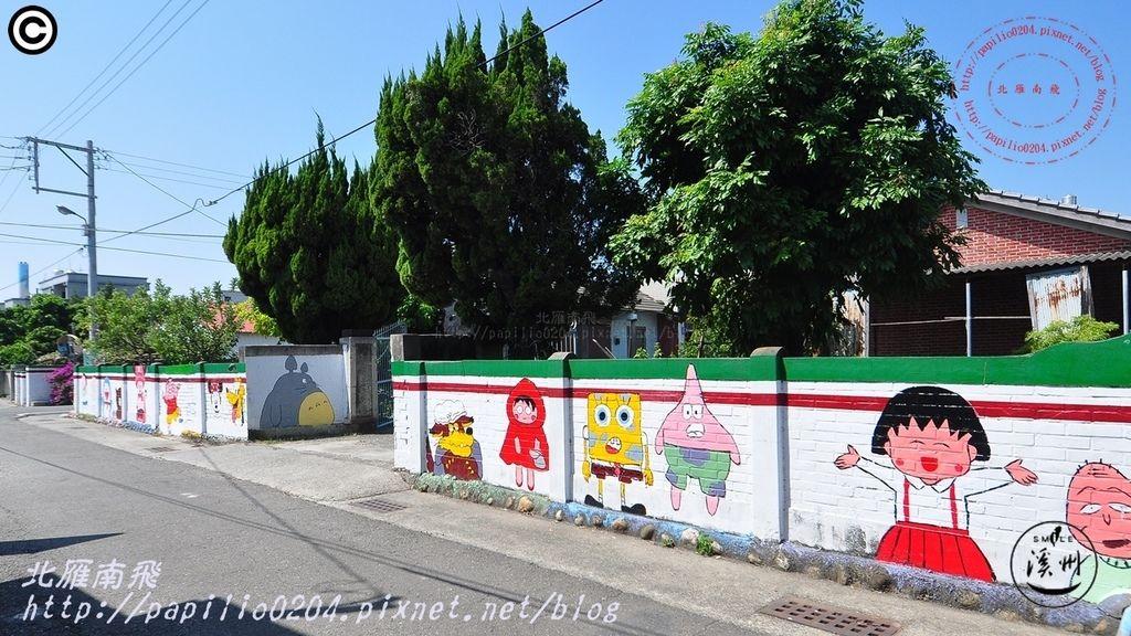28溪洲水尾村社區彩繪壁畫-卡通人物.JPG