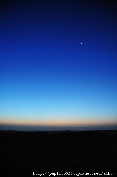 撒哈拉沙漠的晨星