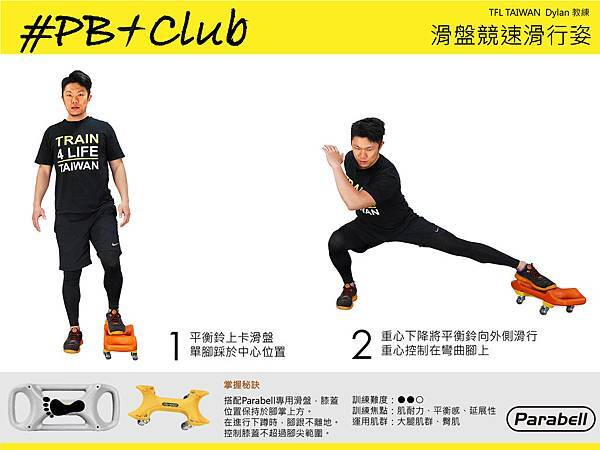#05 Parabell 滑盤競速滑行姿 Skating Move Lunge
