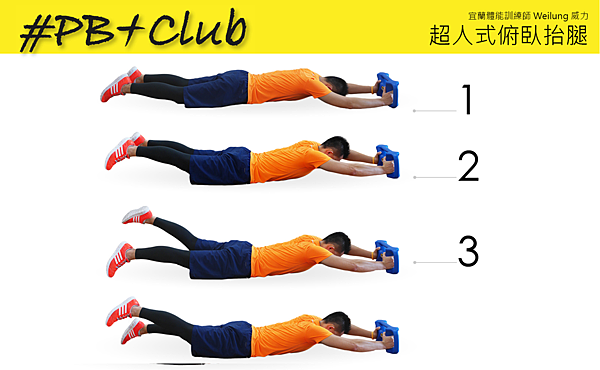 23 超人式俯臥抬腿 Prone Leg Lift Alternated-1
