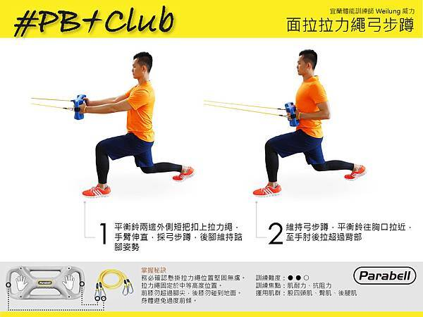 #29 面拉拉力繩弓步蹲 Face Pull Resistance Tube With Lunge