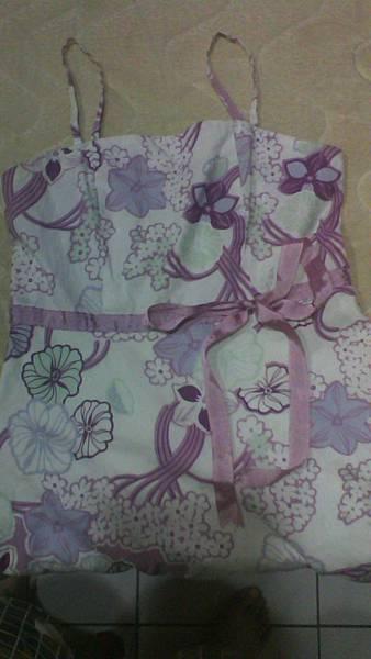 日式風夏日紫花洋裝