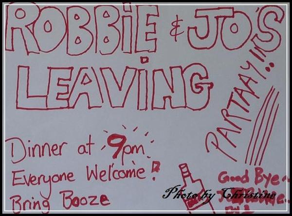 Goodbye Jo & Robbie
