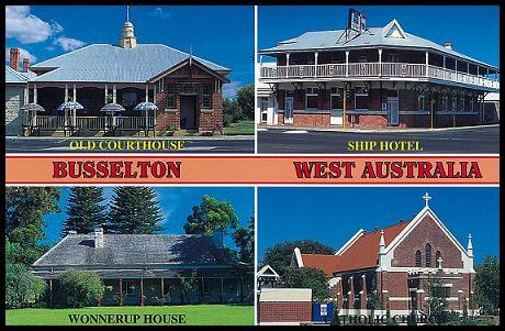 Busselton 鎮上的一些著名古老建築
