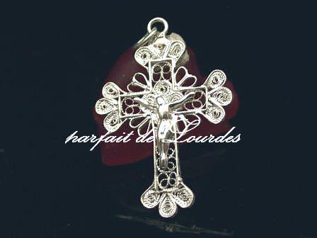 天主教925純銀鏤空十字架2