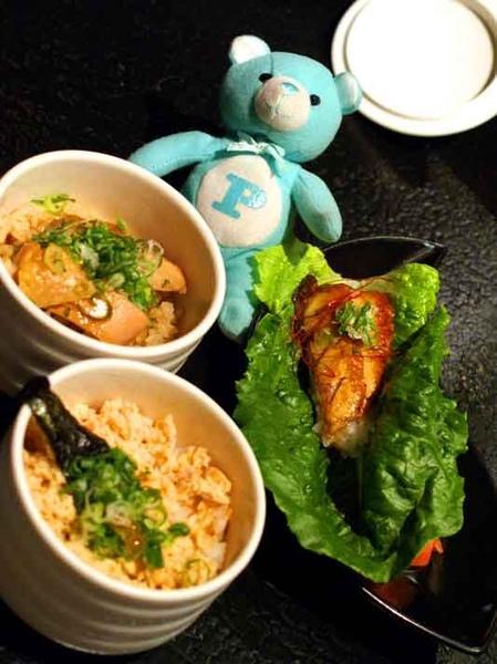 雞肉玉筍炊飯+炙燒鰻魚手捲+鮭魚季飯