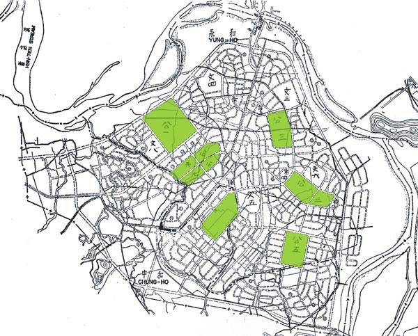 中永和花園城市1955都市計畫