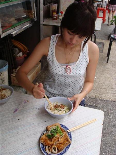 乾的陽春麵 小菜